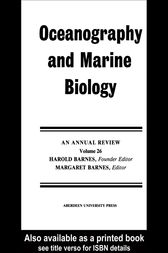 Oceanography And Marine Biology: Volume 26