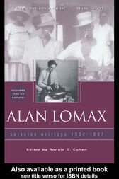 Alan Lomax by Ronald Cohen