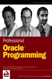 Professional Oracle Programming by Rick Greenwald