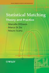 Statistical Matching by Marcello D'Orazio