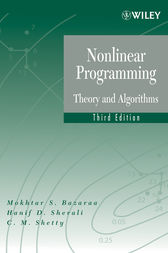 Nonlinear Programming by Mokhtar S. Bazaraa