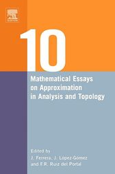 Ten Mathematical Essays on Approximation in Analysis and Topology by Juan Ferrera