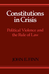 Constitutions in Crisis by John E. Finn