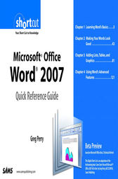 Microsoft Office Word 2007 Quick Reference Guide by Greg Perry