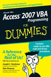 Access 2007 VBA Programming For Dummies by Joseph C. Stockman