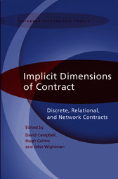 Implicit Dimensions of Contract by David Campbell