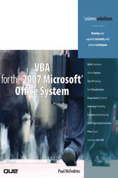 VBA for the 2007 Microsoft Office System (Adobe Reader) by Paul McFedries