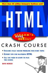Schaum's Easy Outline of HTML by David Mercer