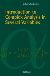 Introduction to Complex Analysis in Several Variables by Volker Scheidemann