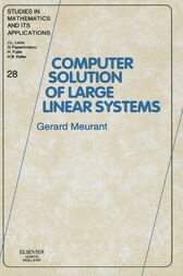 Computer solution of large linear systems by J.L. Lions