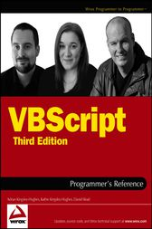 VBScript Programmer's Reference by Adrian Kingsley-Hughes