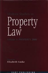 Modern Studies in Property Law - Volume 1 by Elizabeth Cooke