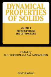 Phonon Physics The Cutting Edge by G. K. Horton