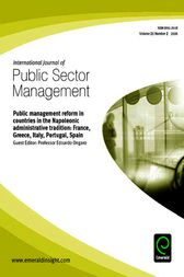 Public Management Reform in Countries in the Napoleonic Administrative Tradition by Edoardo Ongaro