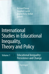 International Studies in Educational Inequality, Theory and Policy by Richard Teese