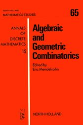 Algebraic and Geometric Combinatorics by E. Mendelsohn