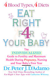 Eat Right For Your Baby by Peter J. D'Adamo