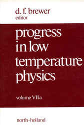 Progress in Low Temperature Physics by D.F. Brewer