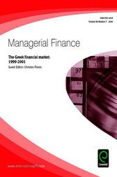 The Greek Financial Market 1999-2001 by Christos Floros