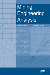 Mining Engineering Analysis by Christopher J. Bise