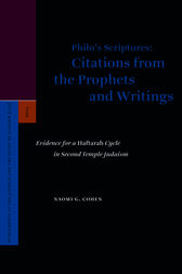 Philo's Scriptures: Citations from the Prophets and Writings by Naomi Cohen