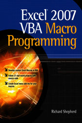 Excel 2007 VBA Macro Programming