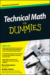 Technical Math For Dummies by Barry Schoenborn