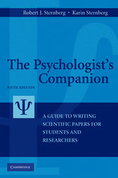 The Psychologist's Companion by Robert J. Sternberg