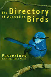 Directory of Australian Birds: Passerines by R Schodde