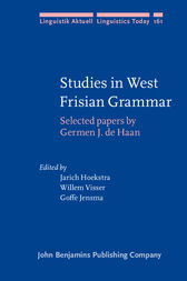 Studies in West Frisian Grammar by Germen J. de Haan