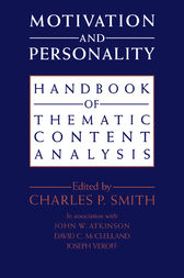 Motivation and Personality by Charles P. Smith