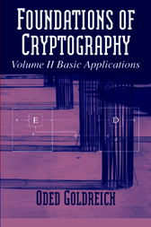 Foundations of Cryptography, Volume 2