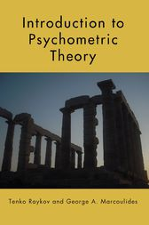 Introduction to Psychometric Theory by Tenko Raykov