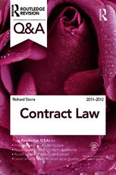 Q&A Contract Law 2011-2012 by Richard Stone