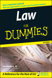 Law For Dummies by John Ventura
