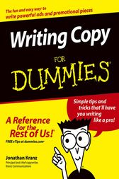Writing Copy For Dummies by Jonathan Kranz