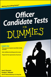 Officer Candidate Tests For Dummies by Jane R. Burstein