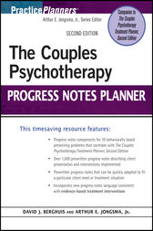 The Couples Psychotherapy Progress Notes Planner by David J. Berghuis
