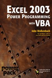 Excel 2003 Power Programming with VBA by John Walkenbach