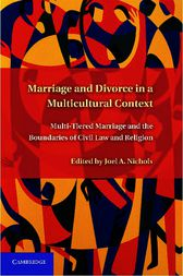 Marriage and Divorce in a Multi-Cultural Context by Joel A. Nichols