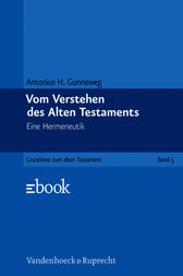Vom Verstehen des Alten Testaments