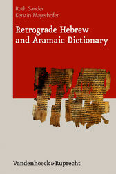 Retrograde Hebrew and Aramaic Dictionary by Ruth Sander