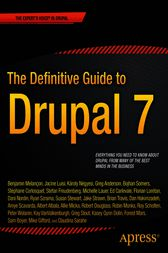 The Definitive Guide to Drupal 7 by Benjamin Melancon