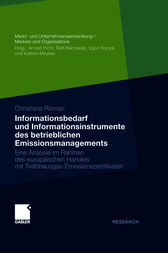Informationsbedarf und Informationsinstrumente des betrieblichen Emissionsmanagements