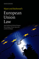 Wyatt and Dashwood's European Union Law by Alan Dashwood