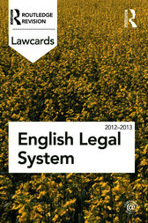 English Legal System Lawcards 2012-2013 by Routledge