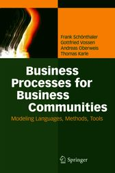 Business Processes for Business Communities by Frank Schönthaler