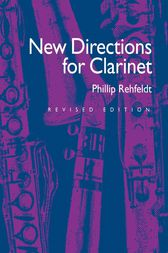 New Directions for Clarinet by Phillip Rehfeldt
