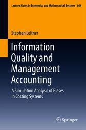 Information Quality and Management Accounting by Stephan Leitner