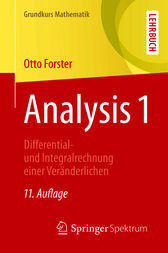 Analysis 1 by Otto Forster